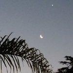 La luna, y a cerquita, Marte!!!! Todo desde la terraza de Gaudi!