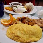 The Cuban Pork Omelette (and Huevos con Picadillo in the back)