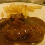Beef stew with fries