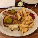 Delicious Grilled Reuben Platter W/Fries