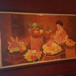 A Thai photo in the restaurant.