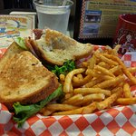 Pioneer pastrami sandwich on rye bread