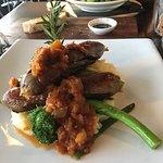 Caesar Salad and Buffalo sausages