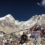 At Mount Everest Base Camp.