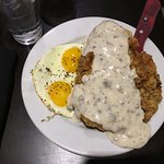 Hearty Oklahoma style breakfast