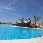 Large pool area (unheated)