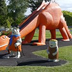 Brontosaurus slide