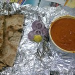 Butter Chicken and tandoori roti