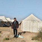 Desert camp@ sunset