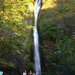 Bridal Veil waterfall along the Historic Columbia River Highway in Oregon state