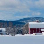 Farmhouse Inn winter panorama