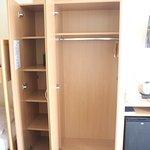 Wardrobe space and tea/coffee facilities