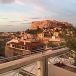 Views of the Acropolis from the balcony.