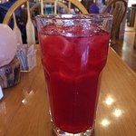 Raspberry lemonade makes for a great thirst quencher.