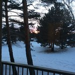 Sunset. The next morning there was a new blanket of snow