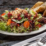 Californian Salad - spinach, romaine, peppers, pineapple, candied nuts, dried cranberries