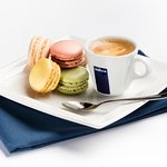 We proudly serve Lavazza coffee with or without macaroons!
