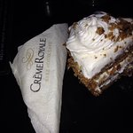 Carrot cake just very sweet  Need more cheese Philadelphia