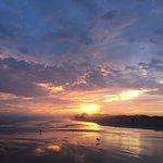 Beautiful sunset on the beach.