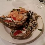 Appetizers, oysters, clams & shrimp