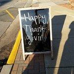 Happy Thanksgiving sidewalk sign