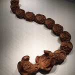 Carved boxwood rosary beads.
