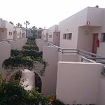 The inner yard, not the balcony side. west ground floor rooms shadier.