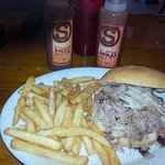 pulled pork with fries -$10