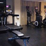 Hotel fitness room.