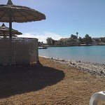 A nice place to sit; the beach front at Panorama Bungalows, El Gouna