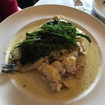 We stopped in for lunch and ordered the atlantic salmon and avocado pita, the meatloaf and the t