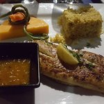 Red Snapper with curry rice.