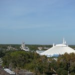 theme park view from balcony