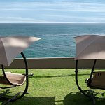 Oceanfront lounge chairs perfect for a sunny afternoon in Pismo