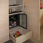 Room 1006 - Mini-bar w/ snack drawer, fridge, ice bucket and DVD player