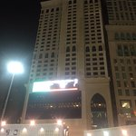 This is the front of hotel right opposite the Grand mosque Haram