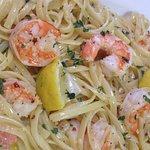 Shrimp Scampi made from scratch