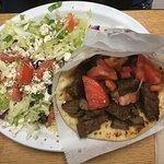 Gyro and Greek Salad