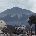 店先から見る武甲山