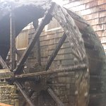 Old running water wheel