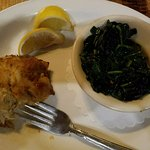 Crab Cake and Sauteed Spinach