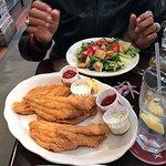 Fried Catfish Filets w/House salad (NO ONIONS) LOL....