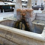 Great water fountain in the Piazza Erbe. Fresh mountain water everyday in our water bottles.
