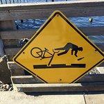Cyclist warning.