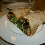 Barbecue wrap (gluten and veggies)