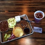 Tasty Perfect Pulled Pork Sandwich & Fixin's