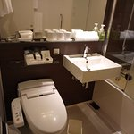 good toilet and the amenities are all complete, i just wish the have bigger table in the bathroo