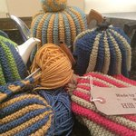 Hand Knitted Hill House Tea Cosies