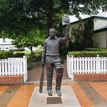 Don Bradman statue in grounds