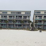 From the beach there are 2-3 more buildings that don't face the beach